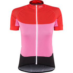 POC Essential Road SS Light Jersey Damen prismane red/altair pink